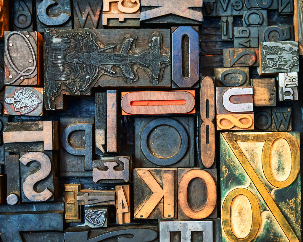Image showing a collection of movable type pieces