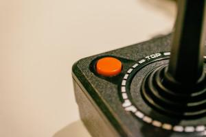 Image showing a vintage game joystick