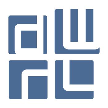 DWRL square logo in light blue