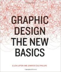 Image is of the cover of Graphic Design: The New Basics, which features the title centered in black text, with a swirling pattern of red lines covering the top two-thirds of the image.
