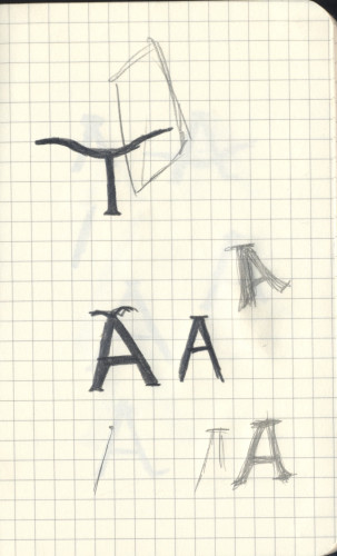 Hand Letter T