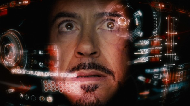 An image of the augmented-reality interface of Iron-Man's helmet.