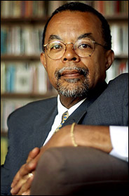 A portrait of Harvard professor Henry Louis Gates, Jr.