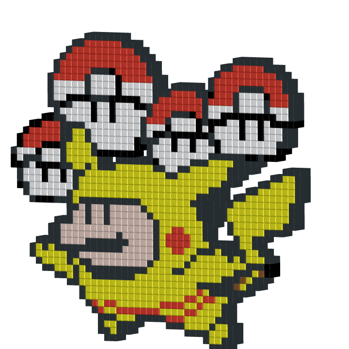 Mario in a Pikachu suit