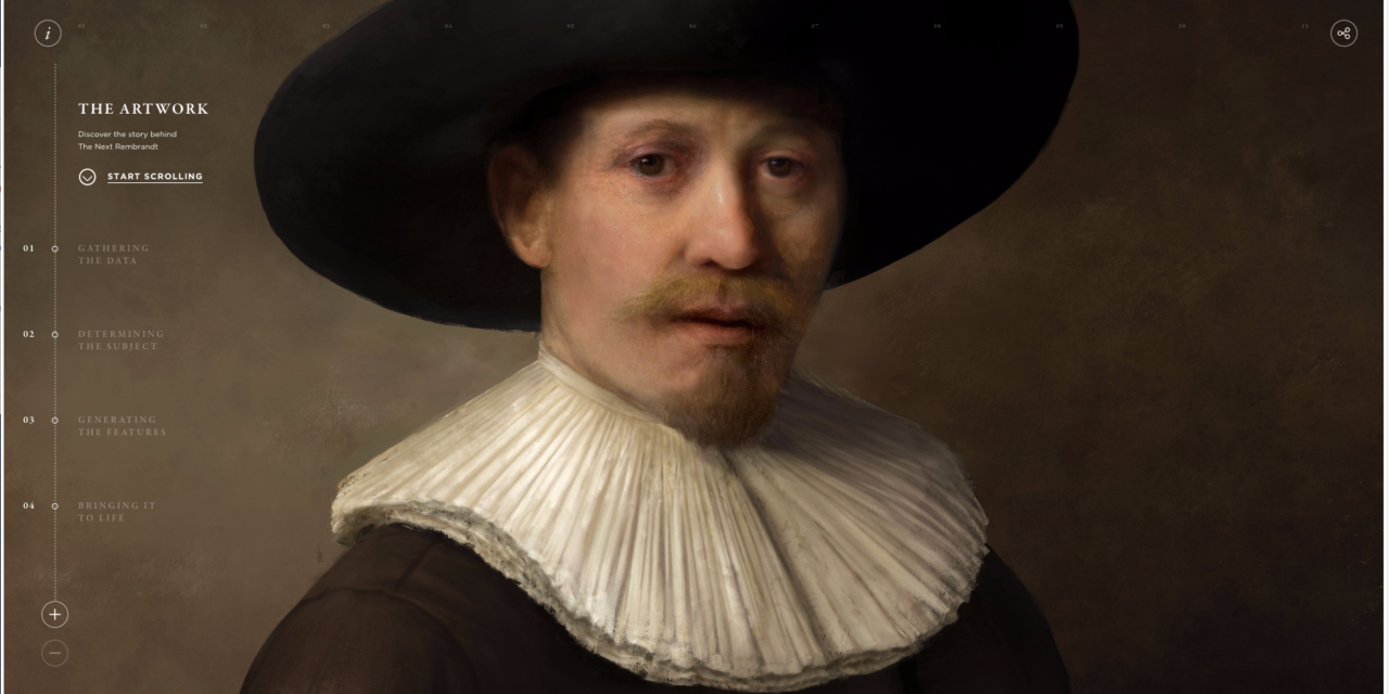 """The """"Next Rembrandt"""" was painted by a computer. It shows a middle-aged man with a mustache, wearing a black hat and a white collar. Image Credit: The Next Rembrandt Project, Press release: http://thenextrembrandt.pr.co/125449-can-technology-and-data-bring-back-to-life-one-of-the-greatest-painters-of-all-time."""
