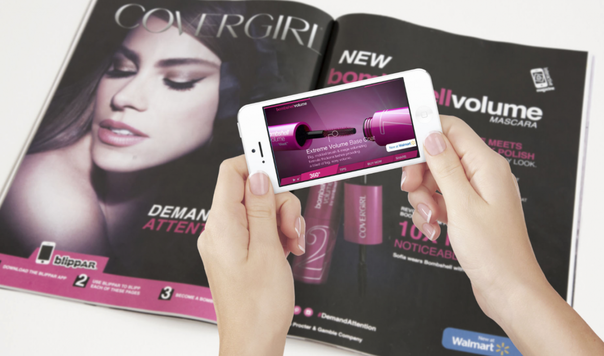 An augmented reality mobile marketing campaign from Cover Girl. Via Blippar.