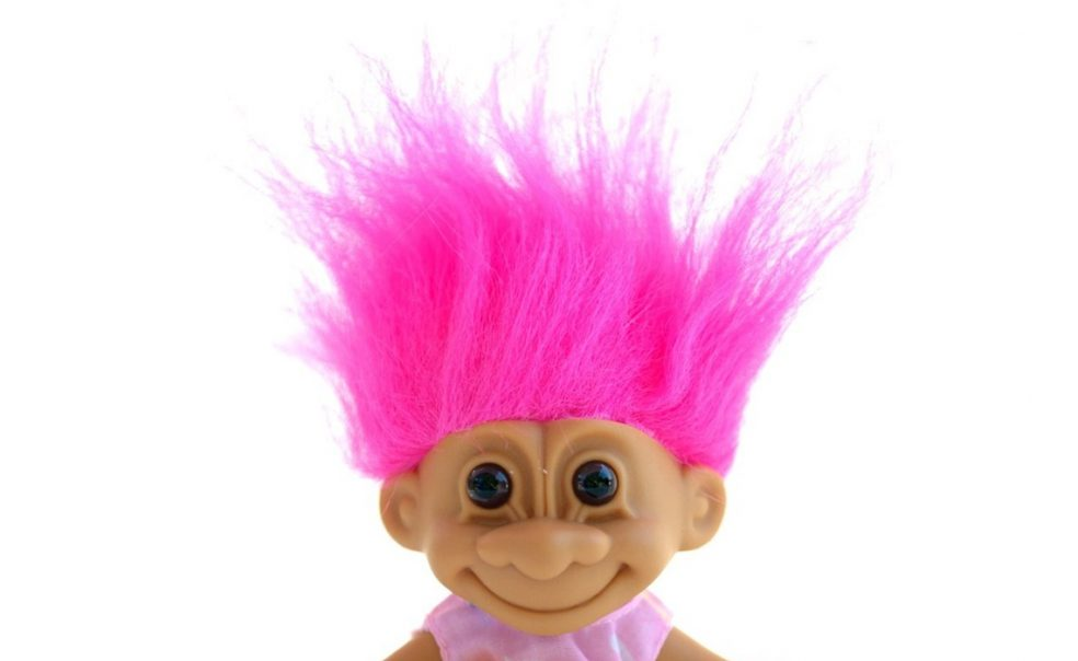 Image of a child's troll doll