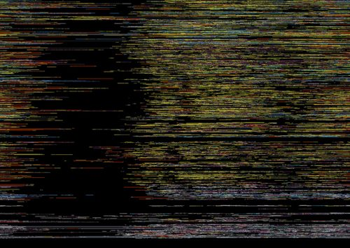Stylistic data visualization similar to snow on a TV screen but with no accompanying data