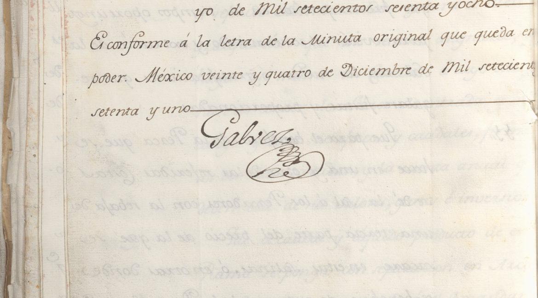 Jose de Galvez Inspection Document