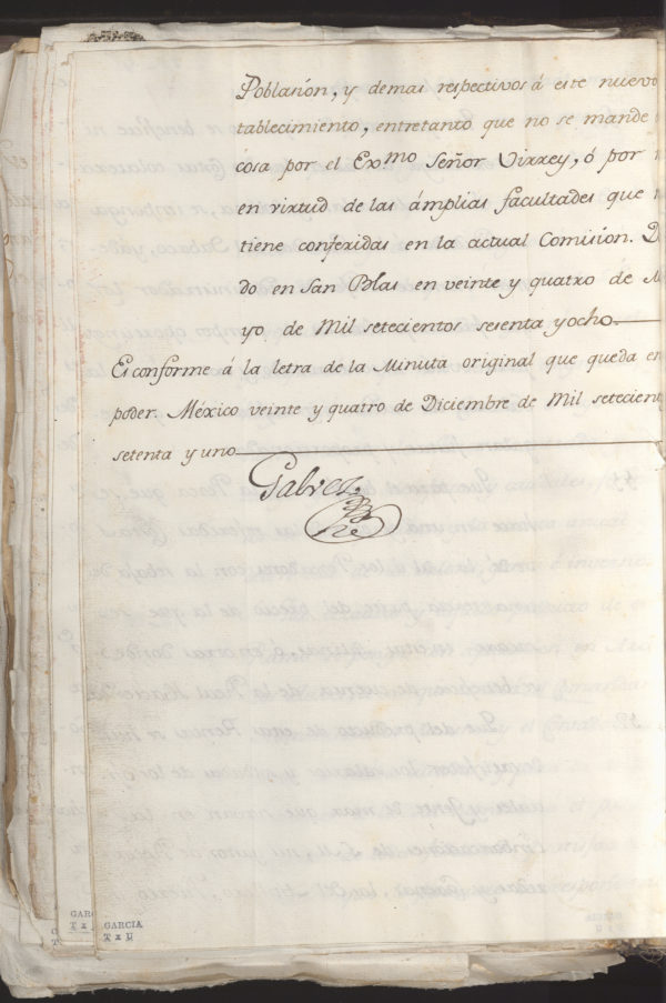 Jose de Galvez Inspection Document